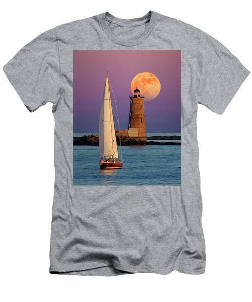 Men's T-Shirt (Slim Fit) featuring the photograph Convergence by Larry Landolfi