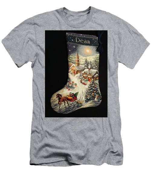 Cross-stitch Stocking Men's T-Shirt (Slim Fit) by Farol Tomson