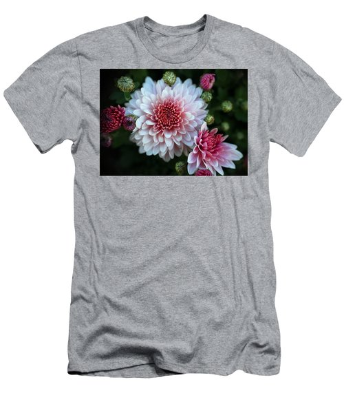 Dahlia Burst Men's T-Shirt (Slim Fit) by Ronda Ryan