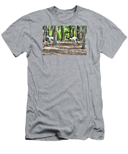 Deer In The Woods Men's T-Shirt (Athletic Fit)