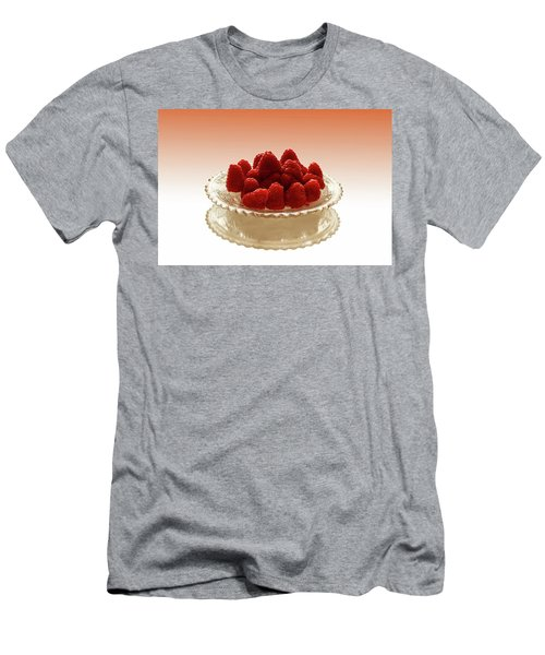 Delicious Raspberries Men's T-Shirt (Slim Fit) by David French