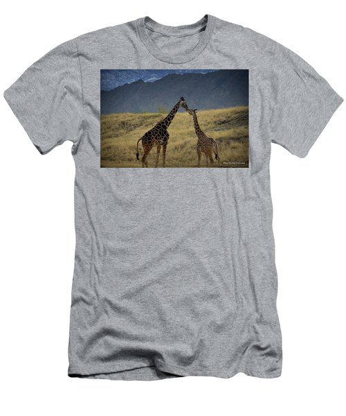 Men's T-Shirt (Slim Fit) featuring the photograph Desert Palm Giraffe 001 by Guy Hoffman