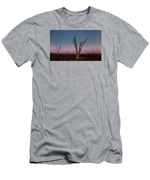 Men's T-Shirt (Athletic Fit) featuring the photograph Dusk At Dumbleyung Lake by Julian Cook