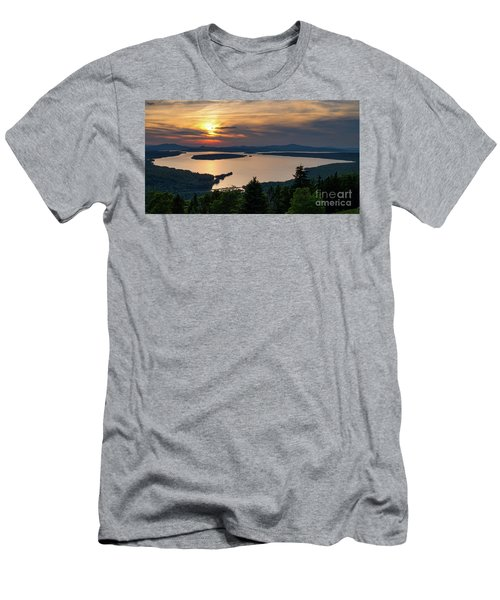 Dusk, Mooselookmeguntic Lake, Rangeley, Maine  -63362-63364 Men's T-Shirt (Athletic Fit)
