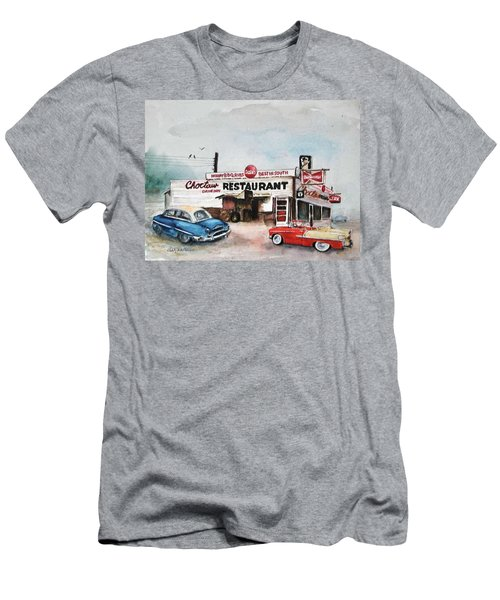 Elvis Has Left The Building. Men's T-Shirt (Athletic Fit)
