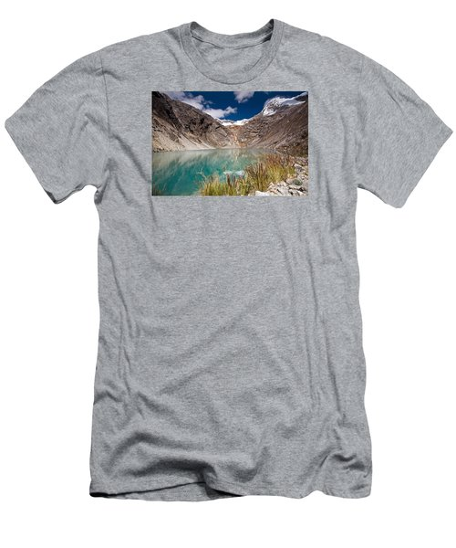 Emerald Green Mountain Lake At 4500m Men's T-Shirt (Athletic Fit)