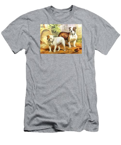 Men's T-Shirt (Slim Fit) featuring the digital art English Bulldogs by Charmaine Zoe