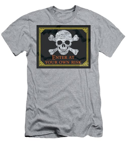 Enter At Your Own Risk  Men's T-Shirt (Athletic Fit)