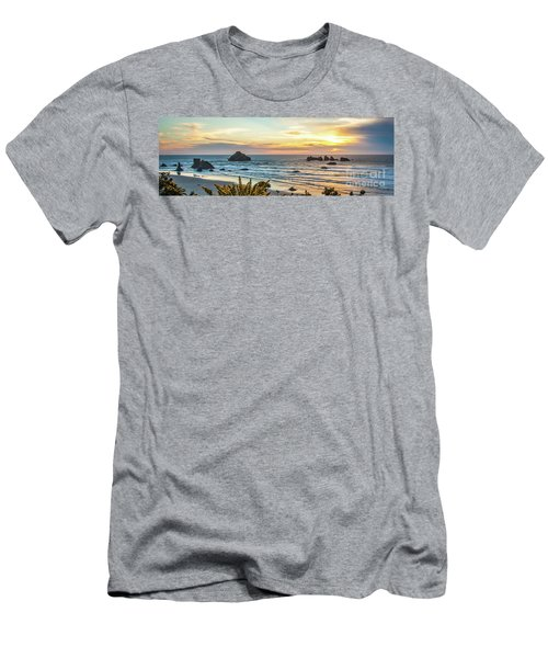 Face Rock At Sunset Men's T-Shirt (Athletic Fit)