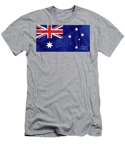Flag Of Australia Men's T-Shirt (Athletic Fit)