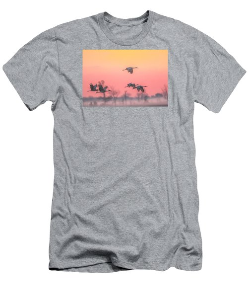 Flying Into The Light And Fog Men's T-Shirt (Athletic Fit)