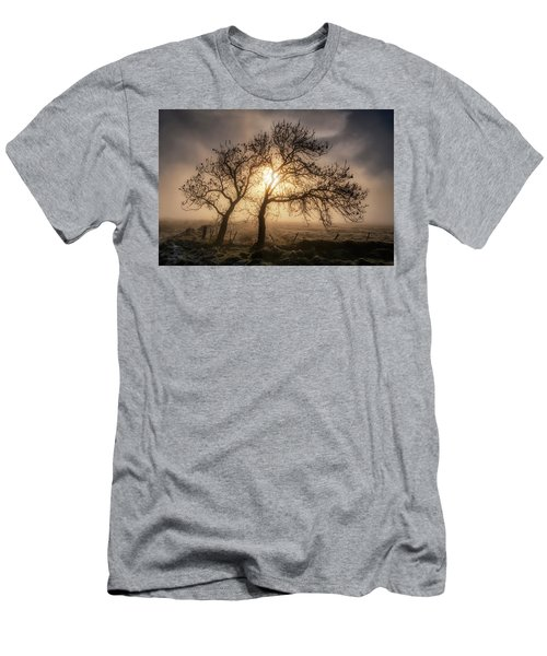 Men's T-Shirt (Athletic Fit) featuring the photograph Foggy Morning by Jeremy Lavender Photography
