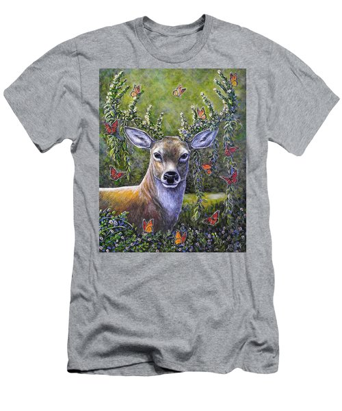 Forest Monarch Men's T-Shirt (Slim Fit) by Gail Butler
