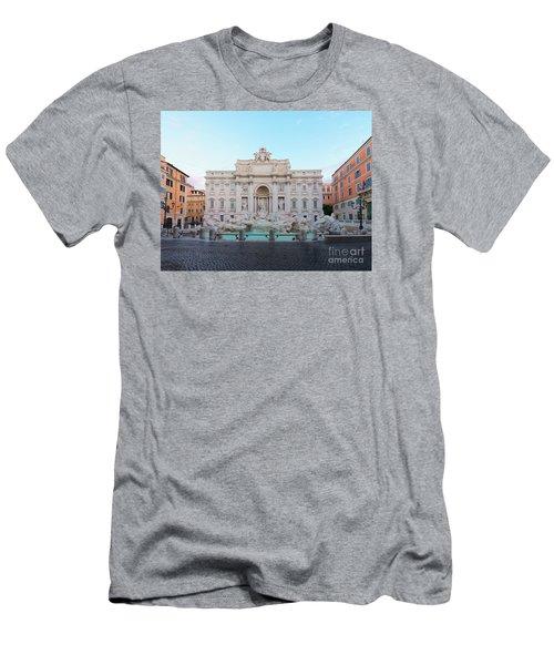 Fountain Di Trevi And Sunrise, Rome Men's T-Shirt (Slim Fit) by Anastasy Yarmolovich