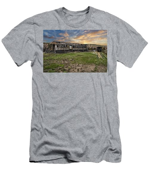 Men's T-Shirt (Athletic Fit) featuring the photograph Ghost Train by Scott Read
