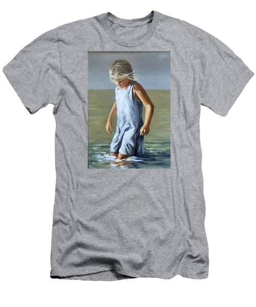 Men's T-Shirt (Slim Fit) featuring the painting Girl by Natalia Tejera