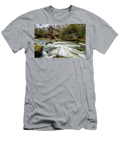 Glade Creek Grist Mill Men's T-Shirt (Slim Fit) by Thomas R Fletcher
