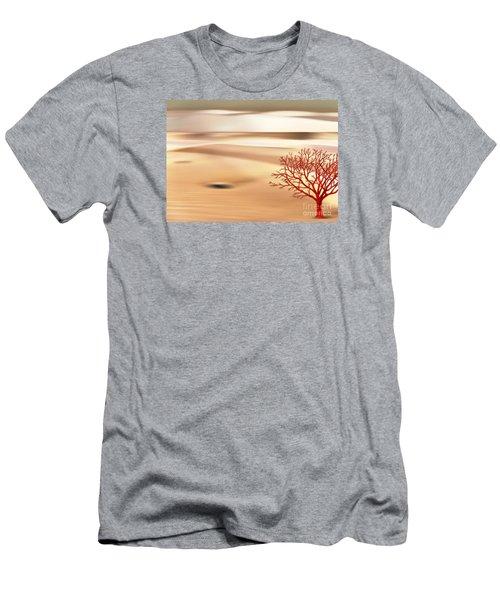 Men's T-Shirt (Slim Fit) featuring the digital art Global Warming by Klara Acel