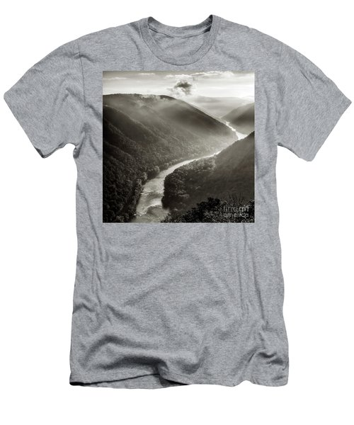 Grandview In Black And White Men's T-Shirt (Athletic Fit)
