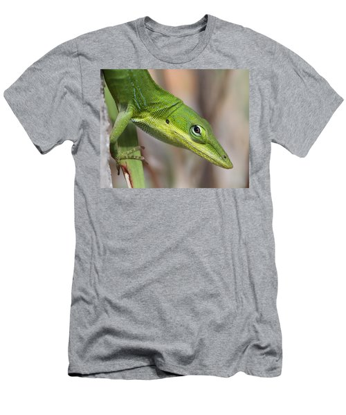 Men's T-Shirt (Slim Fit) featuring the photograph Green Beauty by Doris Potter