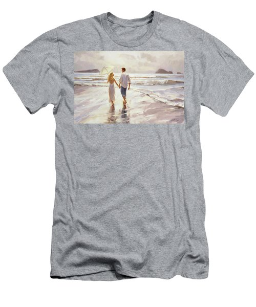 Men's T-Shirt (Athletic Fit) featuring the painting Hand In Hand by Steve Henderson