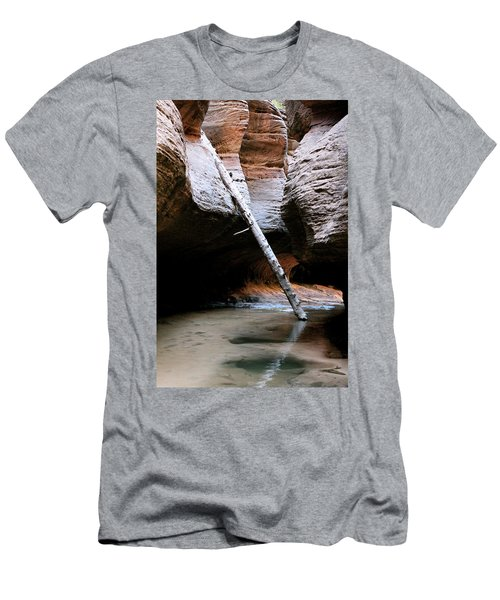 Men's T-Shirt (Athletic Fit) featuring the photograph Hanging By A Moment by Brandy Little