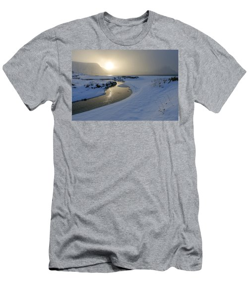 Haukland Beach, Lofoten Men's T-Shirt (Slim Fit) by Dubi Roman