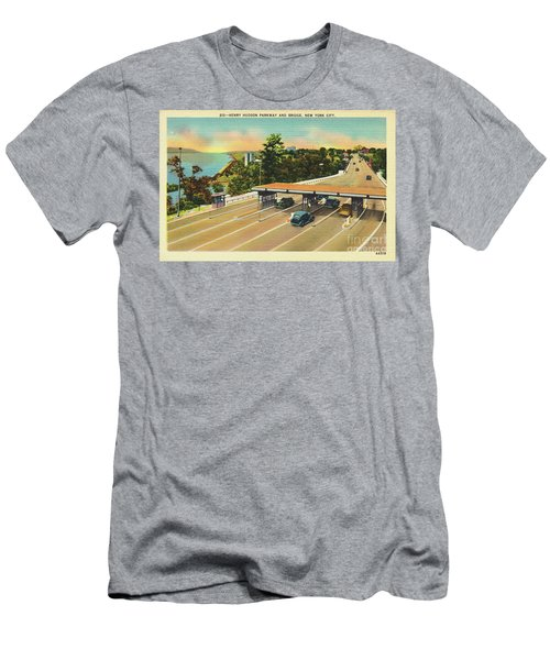 Henry Hudson Bridge Postcard  Men's T-Shirt (Athletic Fit)