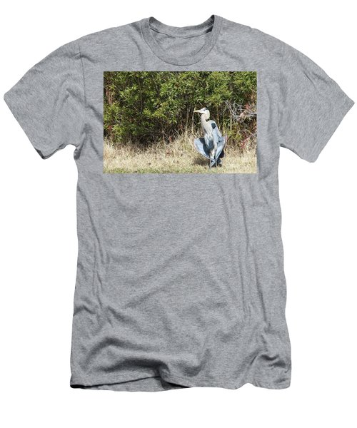 Men's T-Shirt (Slim Fit) featuring the photograph Henry The Heron by Benanne Stiens