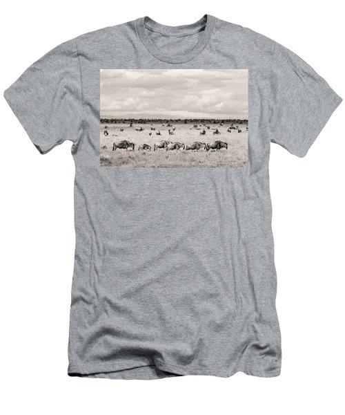 Herd Of Wildebeestes Men's T-Shirt (Athletic Fit)