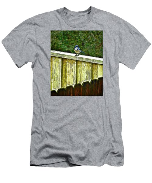 Hiding In Safety Men's T-Shirt (Slim Fit) by Nancy Marie Ricketts