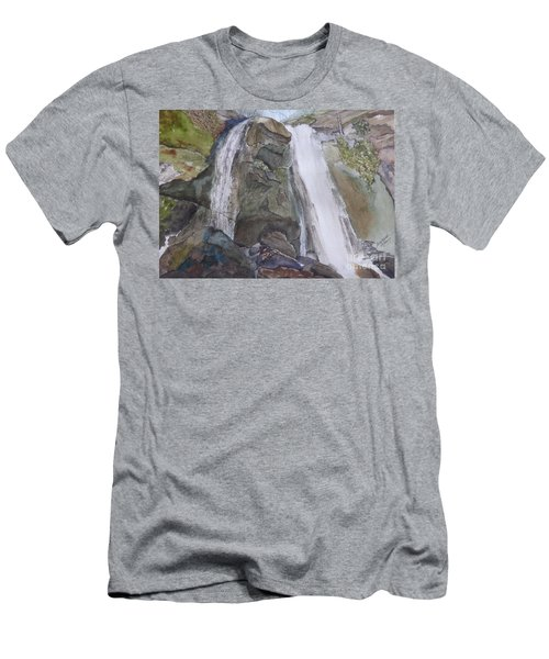 Men's T-Shirt (Athletic Fit) featuring the painting High Shoals Falls by Joel Deutsch