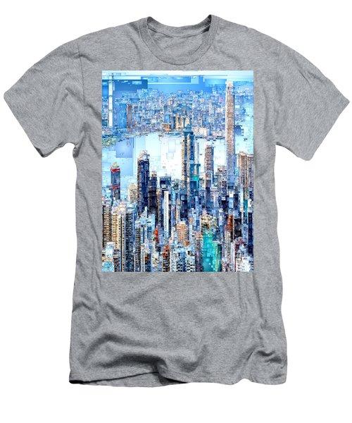 Hong Kong Skyline Men's T-Shirt (Athletic Fit)