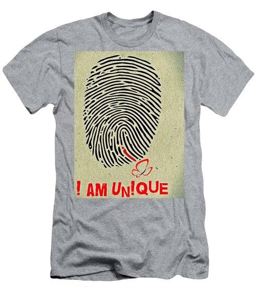 I Am Unique Men's T-Shirt (Athletic Fit)