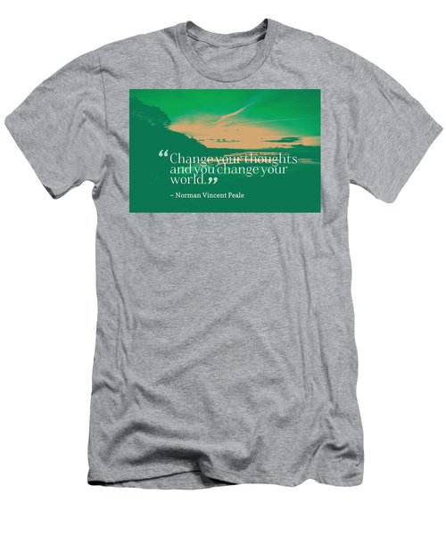 Inspirational Timeless Quotes - Norman Vincent Peale Men's T-Shirt (Athletic Fit)