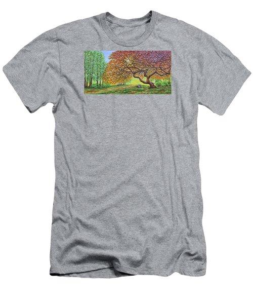 Japanese Maple Men's T-Shirt (Slim Fit) by Jane Girardot