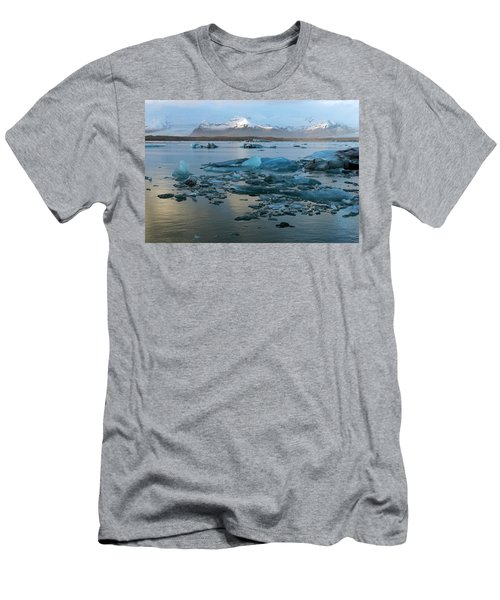 Men's T-Shirt (Athletic Fit) featuring the photograph Jokulsarlon, The Glacier Lagoon, Iceland 5 by Dubi Roman