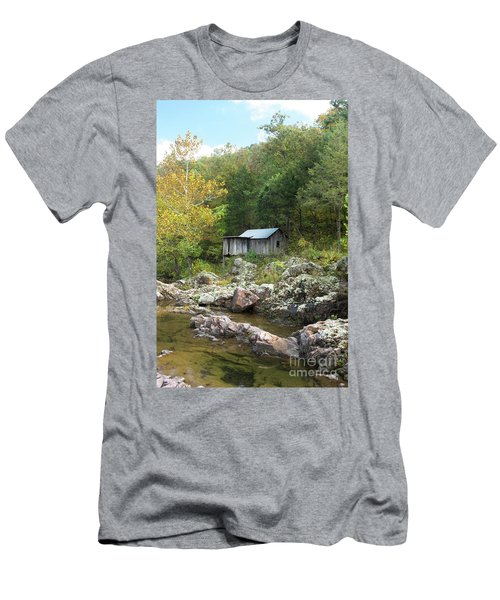 Men's T-Shirt (Slim Fit) featuring the photograph Klepzig Mill by Julie Clements