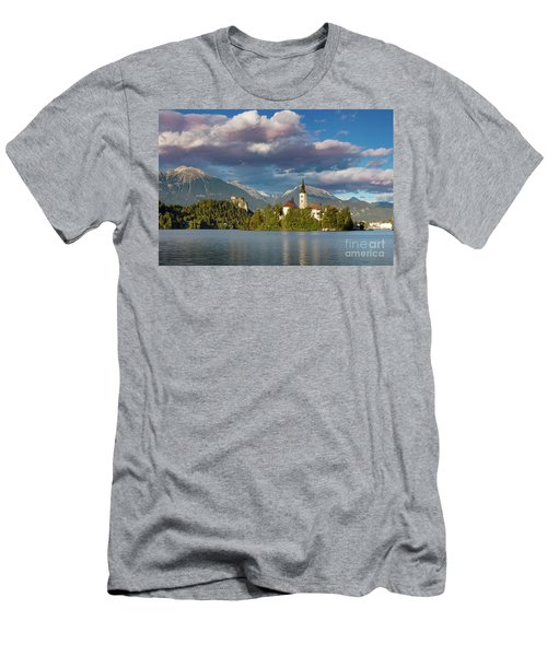 Men's T-Shirt (Slim Fit) featuring the photograph Lake Bled Evening by Brian Jannsen