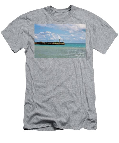 Lighthouse Men's T-Shirt (Slim Fit) by Irina Afonskaya