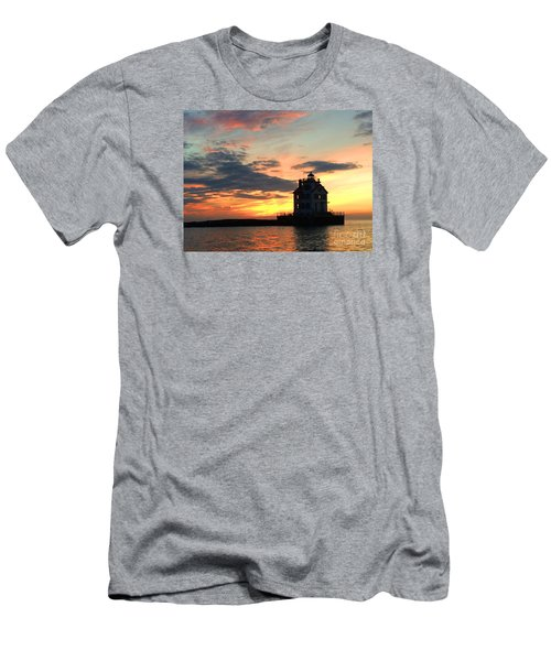 Lighthouse Sunset Men's T-Shirt (Athletic Fit)