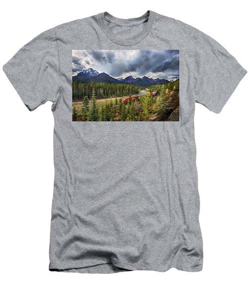 Long Train Running Men's T-Shirt (Slim Fit) by John Poon