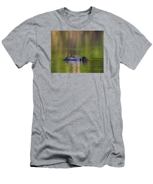 Loon Chick Yawn Men's T-Shirt (Slim Fit) by John Vose