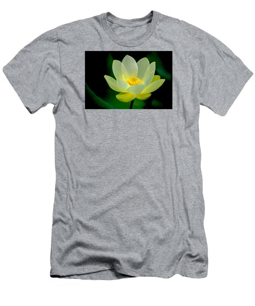 Men's T-Shirt (Slim Fit) featuring the photograph Lotus Blossom by Tyson and Kathy Smith