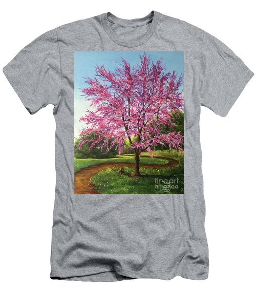 Men's T-Shirt (Athletic Fit) featuring the painting Love Is In The Air by Nancy Cupp