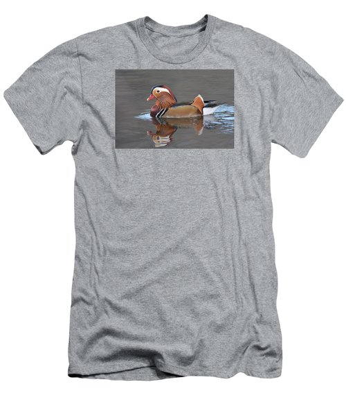 Mandarin Duck Men's T-Shirt (Slim Fit) by Alan Lenk