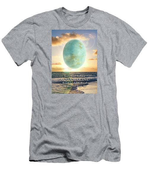 March Birthstone Aquamarine Men's T-Shirt (Athletic Fit)