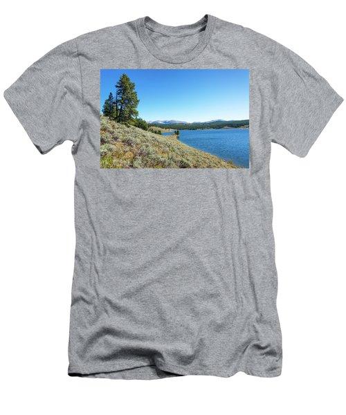 Meadowlark Lake View Men's T-Shirt (Slim Fit) by Jess Kraft