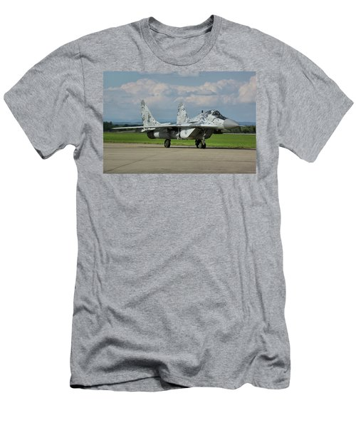 Men's T-Shirt (Slim Fit) featuring the photograph Mikoyan-gurevich Mig-29as by Tim Beach