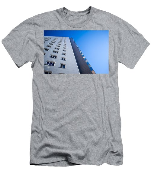 Men's T-Shirt (Slim Fit) featuring the photograph Modern Apartment Block by John Williams